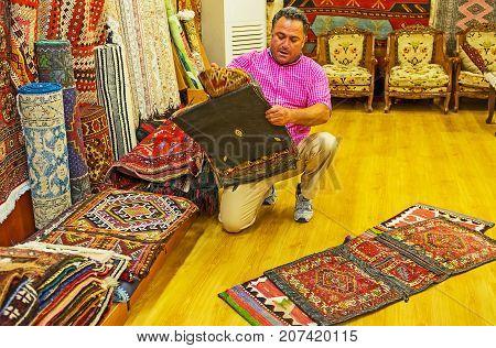 The Camel Saddle Bags In Antalya Old Bazaar