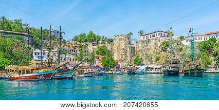 Galleons In Antalya Port