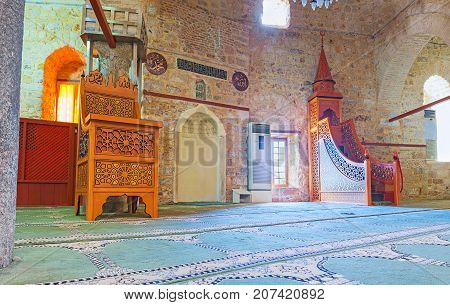 In Medieval Grand Mosque (alaaddin, Yivliminare), Antalya
