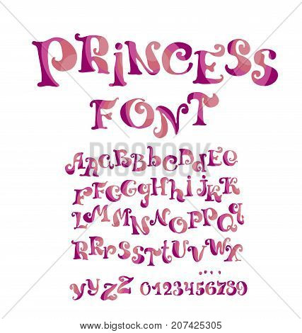 child style ABC alphabit for kids lettering. vector illustration. design elements set.