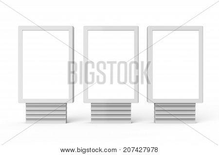 Three Blank Light Boxes