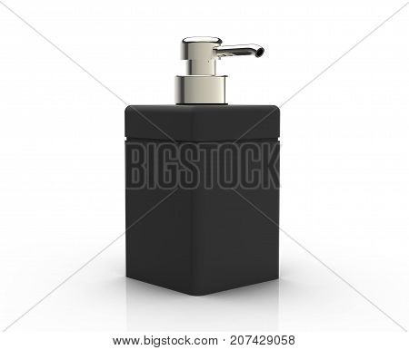 Black Cosmetic Bottle