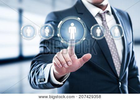 Human Resources HR management Recruitment Employment Headhunting Concept.