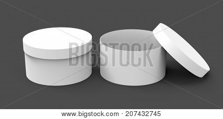 Two Blank Round Boxes