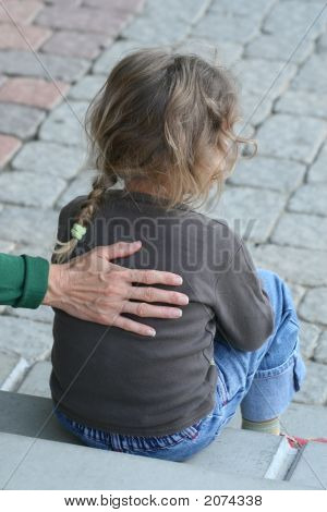 Mother'S Hand Strokes His Daughter