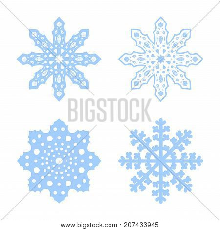 Snowflakes Vector Set