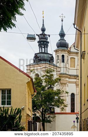 Traditional Cathedral building in Vilnius, Lithuanian