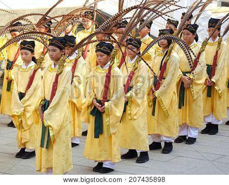 Confucius Ceremony At The Kaohsiung Confucius Temple
