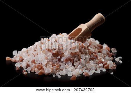 Wood Spoon In Salt