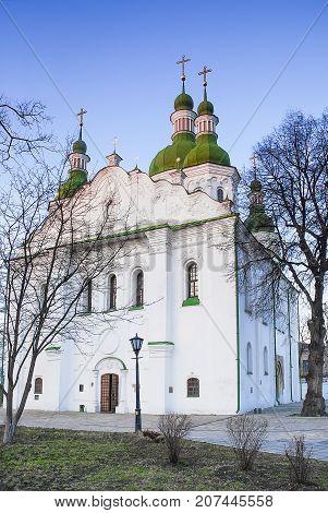 Orthodox Cyril Church in the city Kiev.Ukraine