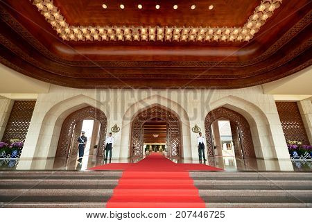 Bandar Seri BegawanBrunei Darussalam-MARCH 312017: The main entrance to the palace of the Sultan