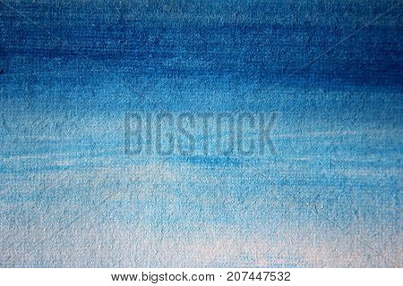 Painted Blue and White Background on Canvas