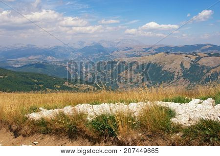 Beautiful mountain landscape. Balkans. Montenegro, Krnovo region