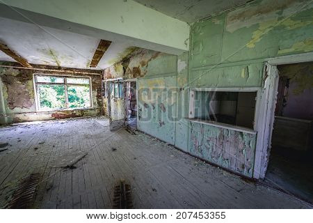 Interior of kindergarten of Skrunda ghost town former USSR military base in Lativa
