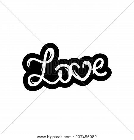 Love text. Hand-lettering calligraphy. Vector lettering illustration for web print - stock vector