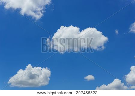 Amazing Cloud Formation On The Blue Sky Look Like Heart With Sunlight Behind Cloud