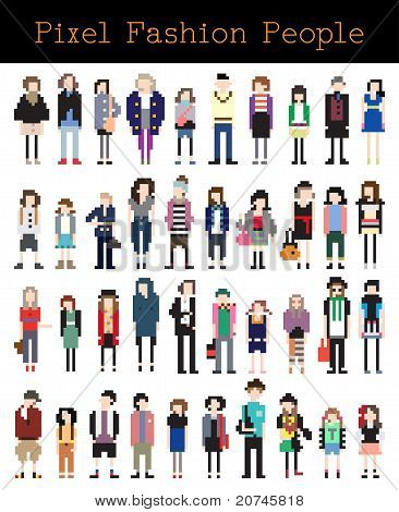 Fashion Pixel People