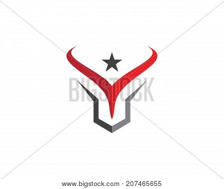 Red Bull Taurus Logo Template vector icon illustration