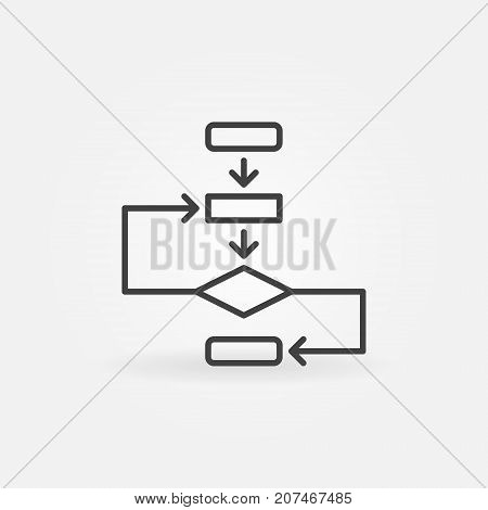 Algorithm vector concept icon or symbol in thin line style