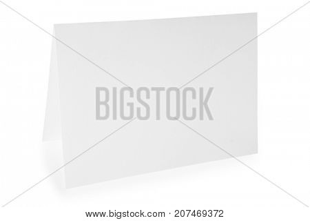 white paper isolated on a white background