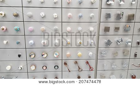 A Collection Of Door Handles Cupboards And Drawers