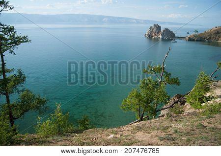 Lake Baikal Near Shamanka Rock