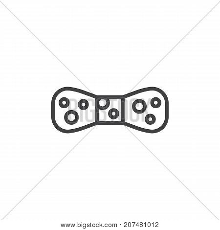 Bow tie line icon, outline vector sign, linear style pictogram isolated on white. Symbol, logo illustration. Editable stroke