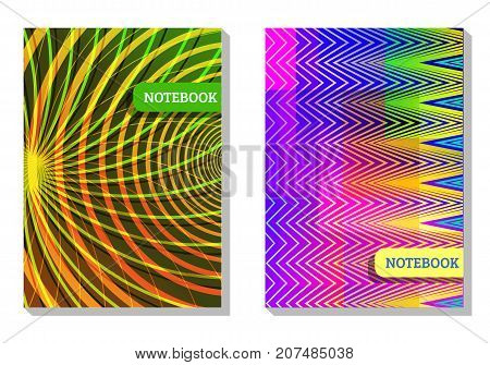 Minimalistic vector geometric design template for vivid brochure covers posters notepads banners etc.