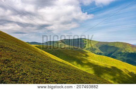Gorgeous Green Rolling Hill In Summer