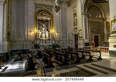 Palermo.Italy.May 26 2017.Views of the interior of the Cathedral of SANTA Maria Assunta in Palermo. Sicily