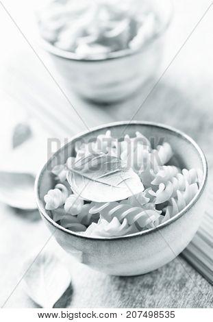 Pasta in a ceramic bowl