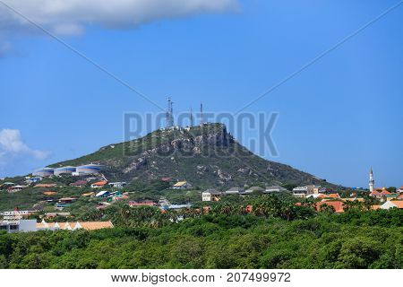 Heavy Industry on a Green Curacao Mountain