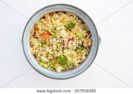 Bulgur Salad Flat Lay View