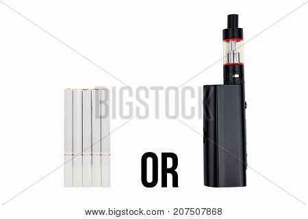 Cigarettes And Wipe On White Isolated Background