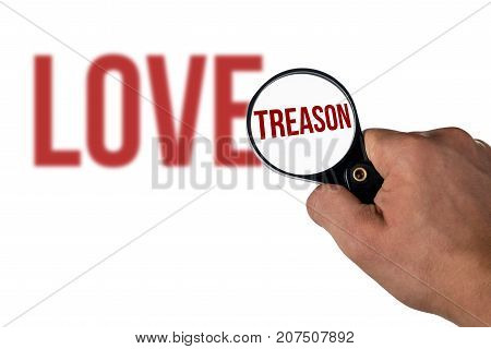 Blurred Love Lettering, In A Magnifying Glass Treason