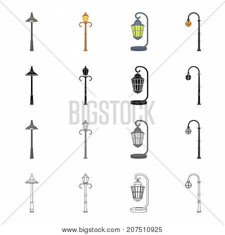 Electrical, appliance, chuck, and other  icon in cartoon style.Lantern, street, lighting icons in set collection