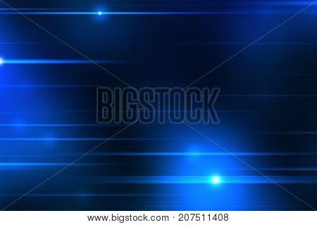 2d illustration of a blue light streaks background