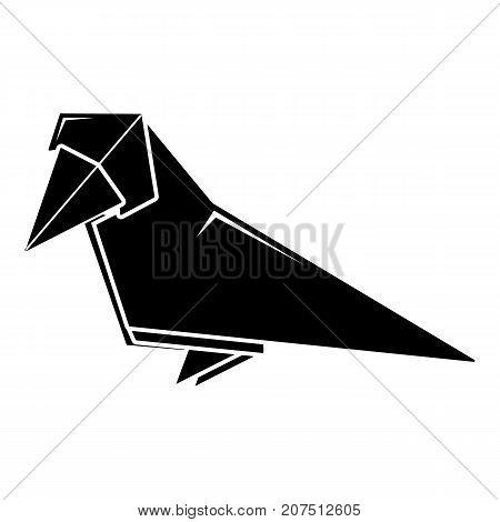Origami bird icon. Simple illustration of origami bird vector icon for web