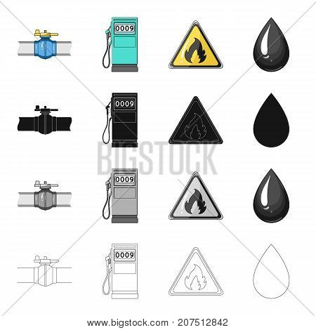 Machinery, oil, fire, and other  icon in cartoon style.Industry, enterprises, tower icons in set collection
