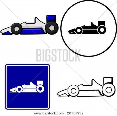 racing car illustration sign and symbol
