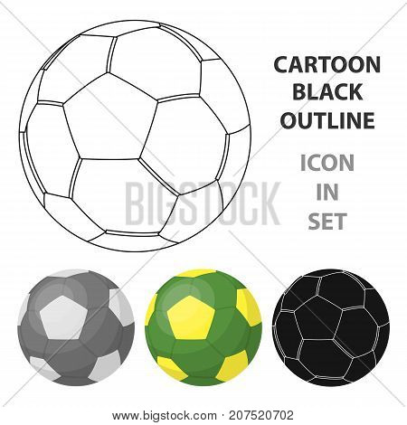 Green soccer ball icon in cartoon design isolated on white background. Brazil country symbol stock vector illustration.