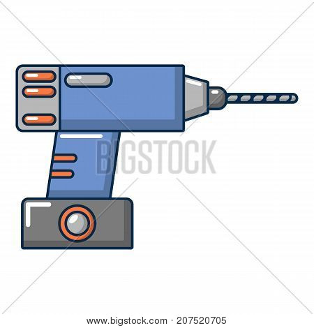 Drill icon. Cartoon illustration of drill vector icon for web