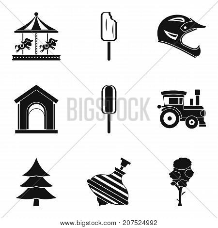 Safety of entertainment icons set. Simple set of 9 safety of entertainment vector icons for web isolated on white background