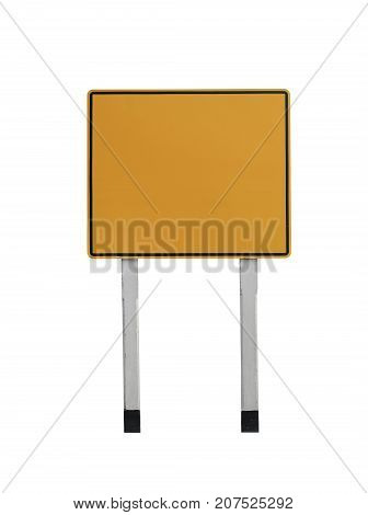 Traffic Signs isolated on white background and have clipping pathscopy space for your input Ideas on works.