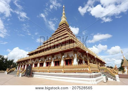 Phra That Nong Waeng in Khon Kaen provinceThailand Religious Landmarks. poster