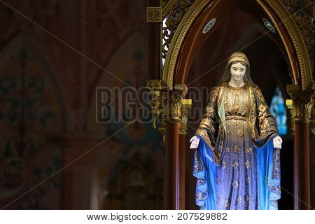 Blessed Virgin Mary Statue in the christ church.