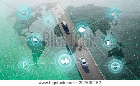 Smart transportation and intelligent communication network of things wireless connection technologies for business .