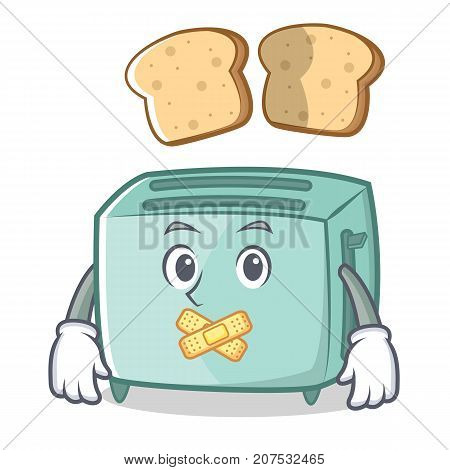 Silent toaster character cartoon style vector illustration