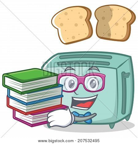 Geek toaster character cartoon style vector illustration