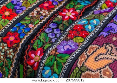 Belt and embroidery for one old traditional Romanian folk costume specific for Bistrita-Nasaud area Romania.